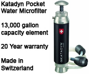 Katadyn Pocket Water Microfilter - Made in Switzerland