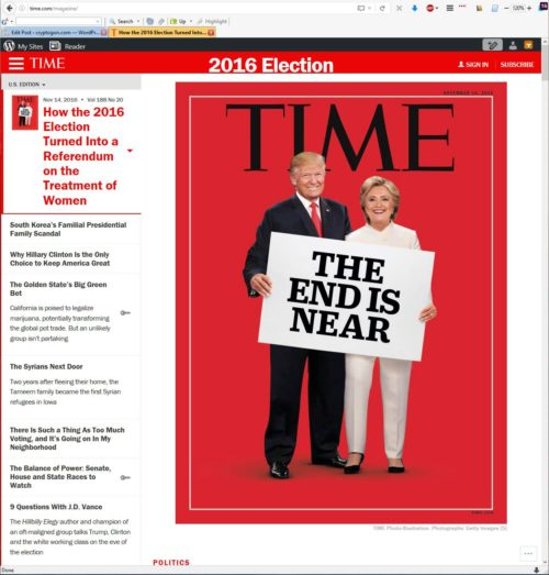 The End Is Near Time Cover: The End Is...